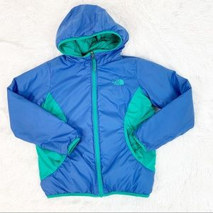 The North Face hooded reversible puffer jacket